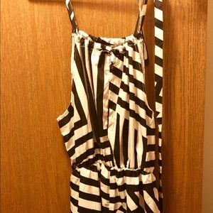 Maxi-Dress, Black/White Stripes in All Directions.